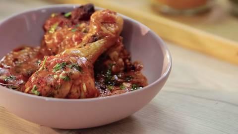 Piletina sa pečenim paprikama i pirinčem