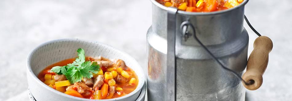 Ćuretina sa kukuruzom i povrćem