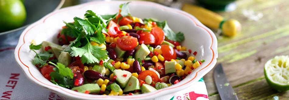 Salata od avokada i pasulja